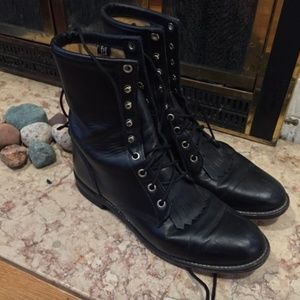 Justin Roper Laceup Boots